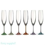 """Бокалы для шампанского """"Барбара декорейшн"""" 6 шт, 250 мл., h=26 см"""