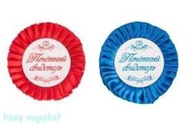 """Набор значков """"Почетный свидетель"""", красный и синий"""