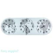 Часы настенные с мировым временем, 38х115 см