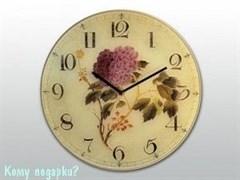 Часы настенные с рисунком «Цветок»