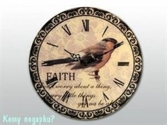 Часы настенные с рисунком «Снегирь»