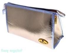 Косметичка, 20х6,2х12,5 см., золотая