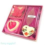 Набор ароматический, розовый, 9х9х3,5 см 001