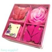 Набор ароматический, розовый, 9х9х3,5 см 002