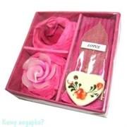 Набор ароматический, розовый, 9,5x9,5x3 см