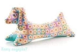 Антистрессовая игрушка «Собачка в цветочках»,33х18х8 см