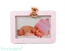 "Фоторамка ""Наш малыш"", 18х15 см, светло-розовая"