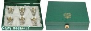 Подарочный набор стопок «Герб России», Chinelli (Италия), золото
