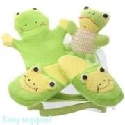 Набор для ванной детский с тапочками «LIME GREEN»