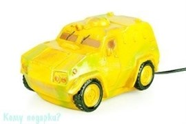 Ночник «Автомобиль броневик», 23х13х12 см, жёлтый