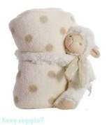 Плед с игрушкой, 100х75 см, овечка