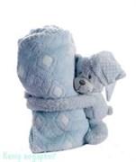 Плед с игрушкой, 100х75 см, медведь