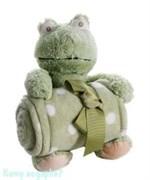 Плед с игрушкой, 100х75 см, лягушка