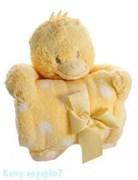 Плед с игрушкой, 100х75 см, цыпленок