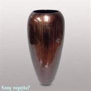 Ваза, h=36 см, коричневая с полосками