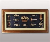 Коллаж настенный «Морской», 60х30 см
