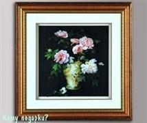 Панно 3D «Ваза с цветами», 49х49 см