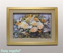 Панно 3D «Букет в вазе», 44х33 см