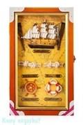 """Настенная ключница """"Парусник"""" на 6 ключей, 15х25 см"""