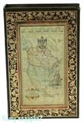 Шкатулка-фолиант «Старинная карта», 26x17x5 см