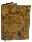 Шкатулка-фолиант «Карта мира XVII века», 26x17x5 см