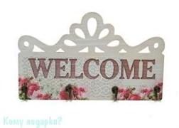 "Ключница ""Добро пожаловать"", 30x18 см"