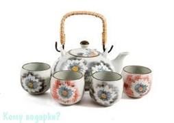 Набор для чайных церемоний «Нежность» на 4 персоны, 16х28х11 см