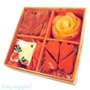 Набор ароматический, оранжевый, 9х9х3,5 см