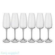 Набор бокалов для шампанского «Ализэ» 6 шт, 290 мл, h=25 см