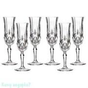 Набор бокалов для шампанского «Опера» 6 шт, 130 мл, h=20,5 см