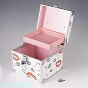 Шкатулка «Поцелуй» для бижутерии и косметики, пластик, 17х17х15 см