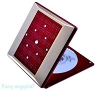 Компактное зеркало с кристаллами «Red&Gold», 3-кратное увеличение