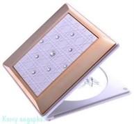 Компактное зеркало с кристаллами «WPearl&Gold», 5-кратное увеличение