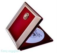 Зеркало компактное с кристаллами «Red&Gold», 5-кратное увеличение