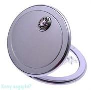 Зеркало с кристаллами «Silver», 3-кратное увеличение, компактное