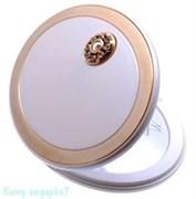 Зеркало компактное с кристаллами «WPearl&Gold», 3-кратное увеличение