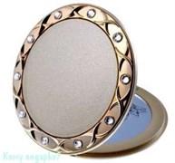 Зеркало компактное «Gold», 5-кратное увеличение, с кристаллами