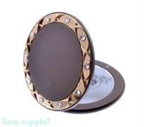Компактное зеркало «Bronze&Gold», с кристаллами
