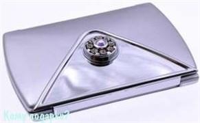 Компактное зеркало «Silver», 3-кратное увеличение, с кристаллами
