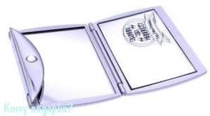 Зеркало с кристаллами «Silver», компактное, 3-кратное увеличение