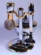 Набор для бритья «Chrome&Gold (Gillette Mach-3)», 3 предмета