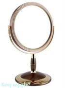 Зеркало круглое настольное «Bronze&Gold», двухстороннее, 18 см