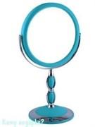Настольное круглое зеркало, двухстороннее, 18 см