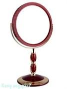 Зеркало настольное круглое «Red&Gold»,  двухстороннее, 18 см