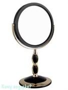 Зеркало настольное круглое «Black&Gold», двухстороннее,18 см