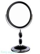 Зеркало круглое настольное «Black», двухстороннее, 18 см