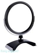 Зеркало настольное «Black», двухстороннее, 18 см.