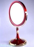 Зеркало настольное «Red&Gold», двухстороннее, 18 см.