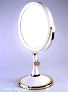 Зеркало настольное « WPearl&Gold», двухстороннее, 18 см.