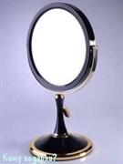 Настольное зеркало «Black&Gold», двухстороннее, 18 см.
